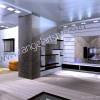 Ангел АРТСтудио, Дизайн проект квартиры, Бытха в Сочи.