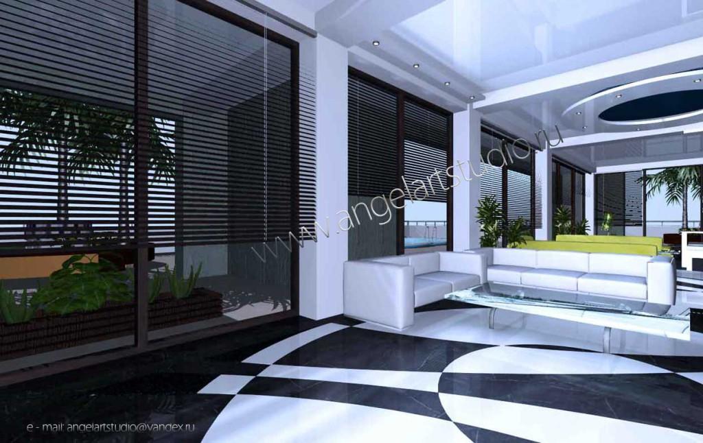 Дизайн интерьера квартиры,коттеджа в Сочи услуги дизайнера