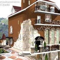 Дизайн фасада, ландшафтный дизайн. город Сочи, ул. Виноградная.