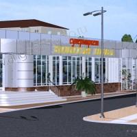 Проект супермаркета ЗОЛОТАЯ НИВА в Дагомысе