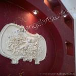 декорирование стен гипсокартоном angel-artstudio