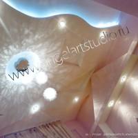 Дизайн потолка в спальне по улице Бамбуковой в Сочи, Ангел АРТСтудио