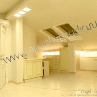 Ремонт квартиры мансардного этажа, фото дизайн, Ангел АРТСтудио в Сочи.