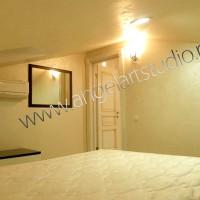 Ремонт квартиры мансардного этажа, фото спальни, Ангел АРТСтудио в Сочи.