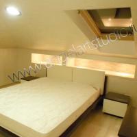 Ремонт, дизайн мансардного этажа в Сочи, фото спальни, ООО Ангел АРТСтудио